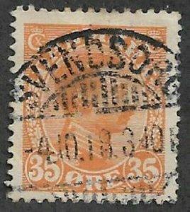Denmark #114 > 35o of 1913-28 > Used > Premium Cancel / SCV $7.50