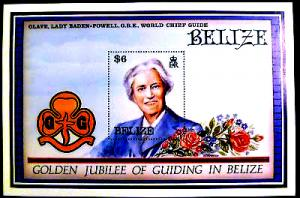 BELIZE Sc#877 Golden Jubilee of Guiding S/S MNH