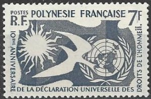 French Polynesia  191  MNH  Human Rights 10th Anniversary