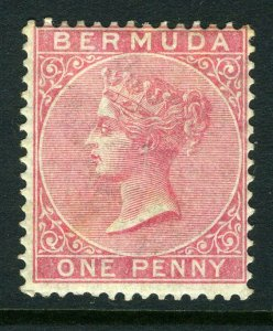 BERMUDA-1886 1d Carmine Red.  A mounted mint example Sg 24