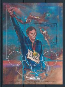[75157] Palau 1992 Olympic Games Barcelona Dick Fosbury Souvenir Sheet MNH