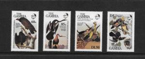 BIRDS -  GAMBIA #551-54  MNH