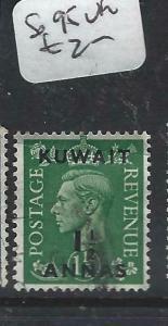 KUWAIT   (P2804B) ON   GB  KGVI  1 1/2A  SG 95    VFU