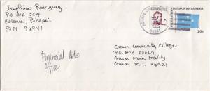 Caroline Islands Micronesia 2c Duperrey on 20c Four-Star Envelope 1985 Ponape...