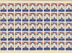 Sale Stamp Label Poland Sheet WWII Poster Cinderella Red Cross Private Issue MNH