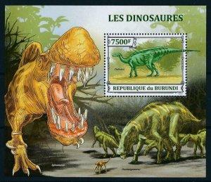 [106113] Burundi 2013 Prehistoric animals dinosaurs Spinosaurus Sheet MNH