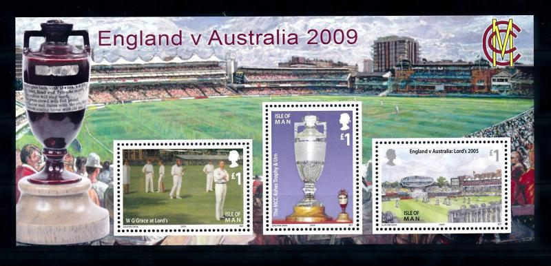 [58034] Isle of Man 2009 Sport Cricket The Ashes Sheet MNH