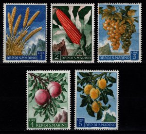 San Marino 1958 Fruit and Agricultural Products, Part Set [Unused]