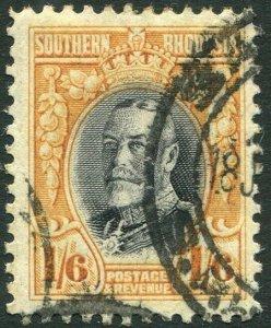 SOUTHERN RHODESIA-1931-27 1/6 Black & Orange-Yellow Perf 12 Sg 24 GOOD USED