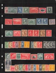 Lot of 130 U.S. MH Mint Hinged Stamps Scott Range # 231 - 754 #139144 X