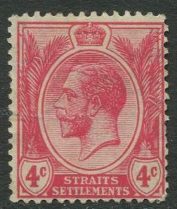 Straits Settlements - Scott 154 - KGV Definitive - 1918 - MNG - 4c Stamp