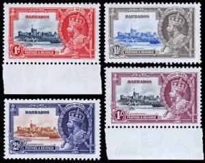 Barbados Scott 186-189 (1935) Mint NH VF Complete Set, CV $45.00 C