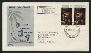 Tokelau Islands # 21 on First Outgoing Mail