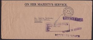 FIJI 1976 cover Suva to Lautoka - UNCLAIMED, RETURN TO SENDER...............6949