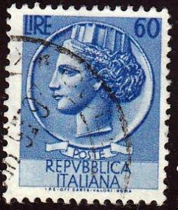 Italy #632 Italia after Syracausean Coin, used.