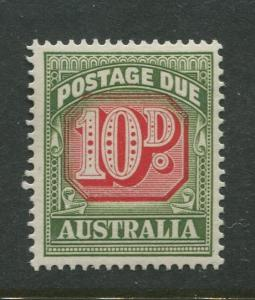 Australia - Scott J93 - Postage Due Issue -1958- No Wmk - MNH -Single 10d stamp