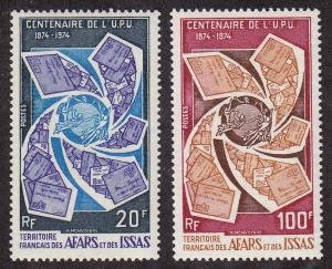Afars and Issas (Djibouti) #374-75 F-VF Mint LH * UPU, Stamp on Stamp