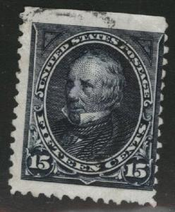 USA Scott 259 Used 1894 Clay stamp No Watermark CV $70