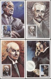 Yugoslavia. 1993. Famous People (Mint) Set of 4 Maxi Cards