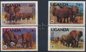 Uganda stamp WWF: African Elephant (I) set MNH 1983 Mi 361-364 A WS228649