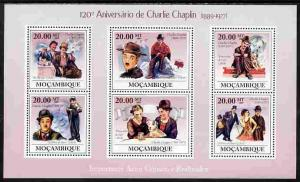 Mozambique 2009 120th Anniversary of Charlie Chaplin perf...