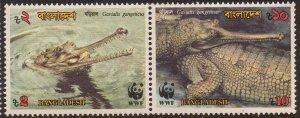 Bangladesh MNH 342-3 Long Snout Gavials WWF 1990 SCV 4.00