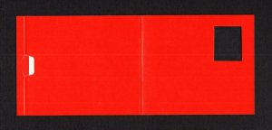 BARCODE BOOKLET TRIAL CONTAINING BLANK GUMMED 'STAMPS' (EX DGA MYALL COLLECTION)