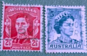 Australia # 161 and # 291. Both used VF
