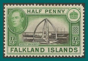Falkland Islands 1938 Whale Bones, 0.5d mint  #84,SG146