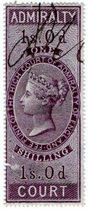 (I.B) QV Revenue : Admiralty Court 1/- (1855)