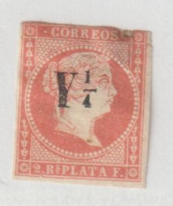 Spanish Antilles 1855 Y1/4 Red Oranged Type M Edifil 10 Mint Hinged 505 Euros