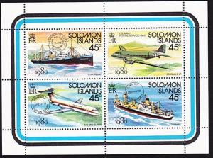 Solomon Islands MNH S/S Ships & Airplanes 1990