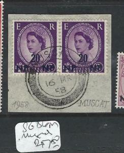 BRITISH P.O. MIDDLE EAST (P0603B) QEII  CANCEL MUSCAT   SG 86  PR       VFU