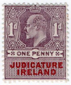 (I.B) Edward VII Revenue : Judicature Ireland 1d