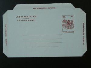 postal history postman on horse aerogramm postal stationery Belgium 79952