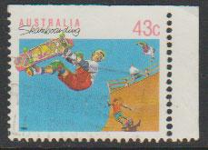 Australia SG 1181a  FU -    from booklet imperf  top righ...