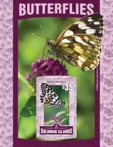 Solomon Islands - 2016 Butterflies - Stamp Souvenir Sheet - SLM16102b