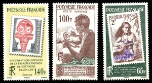 French Polynesia Scott 987-989 Mint never hinged.