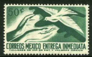 MEXICO E18 50¢ 1950 Definitive 2nd Printing wmk 300 MINT, NH. VF.