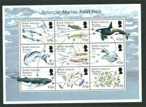 BRITISH ANTARCTIC TERR. SGMS658 2014 FOOD WEB MNH