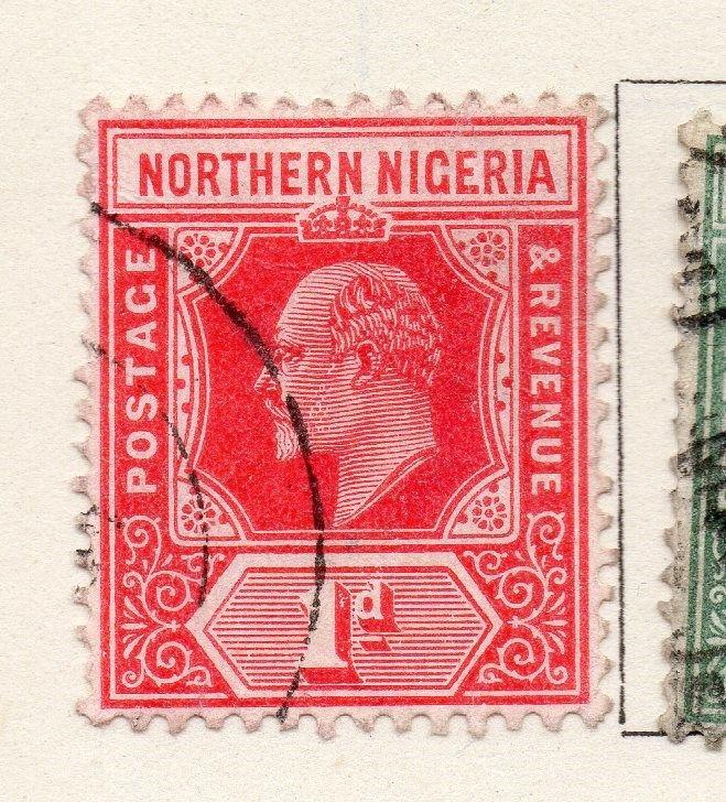 Northern Nigeria 1910 Early Issue Fine Used 1d. 269065
