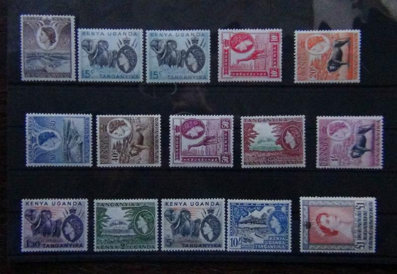 KUT 1954 set complete to £1 MNH + SG169a SG167/180