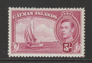Cayman Is a MH KGVO 5/- from 1938