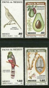MEXICO 1234-1237, Flora and Fauna MINT, NH. VF.