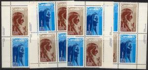 Canada #885-886 Mint MS of Imprint Blocks VF-NH 1981 Religious Personalities