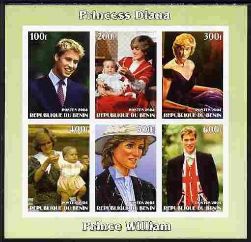 Benin 2004 Princess Diana (& William) imperf sheetlet...