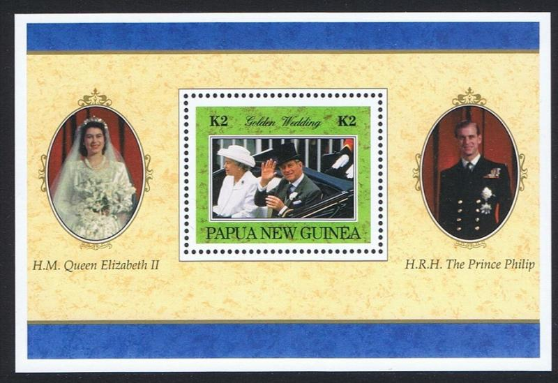 Papua New Guinea MNH S/S 922 Golden Wedding Anniversary QE II 1997