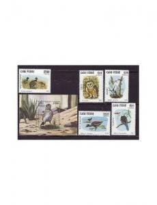 Cape Verde - Birds - 5 Stamp & S/S  Set  3J-001