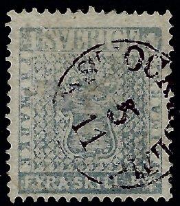 Sweden Facit #2 K3 Grey Blue SC#2 Used F-VF Facit Value $850...Iconic Stamp!