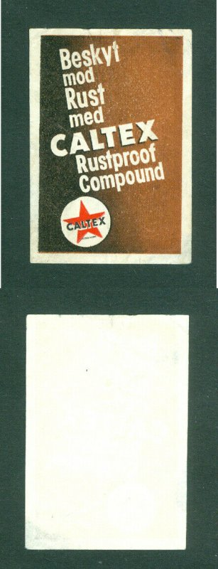 Denmark. Poster Stamp. CALTEX. Rustproof Compound. See Condition